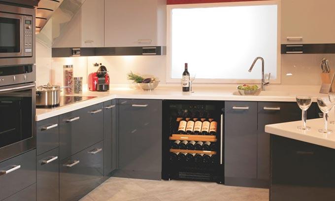 EuroCave Under Bench Kitchen Wine Cabinet S059 Multi Temp.  Presentation Shelves.
