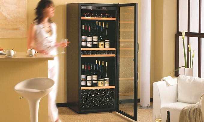EuroCave Wine Cabinet Standing Sliding Shelves