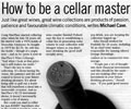 How to be a Cellar Master