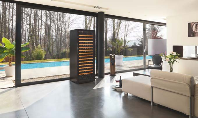 EuroCave Pure Wine Cabinet Fridge Full Glass Door