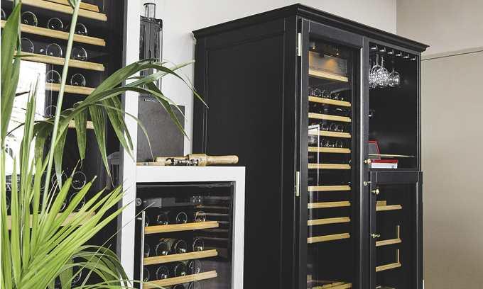 EuroCave Elite Wine Cabinet Black