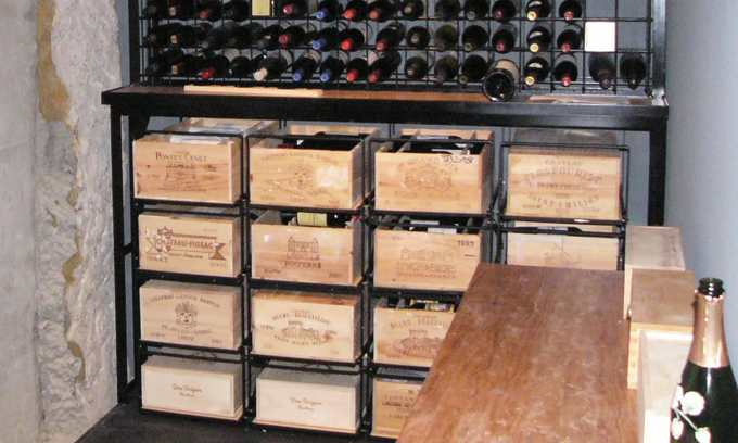 Modulorack with Indi Wine Racking