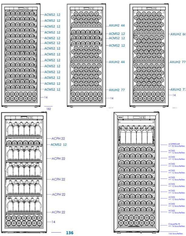 EuroCave V-Revel-L Shelving Configuration