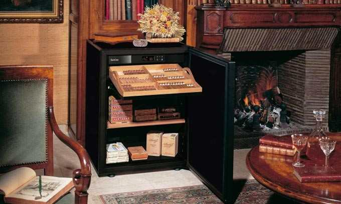 EuroCave Cigar Humidor climate controlled to preserve and protect cigars
