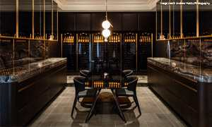 Revelation wine cabinets in wine tasting room