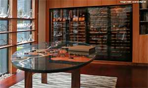 Revelation wine wall in dining room