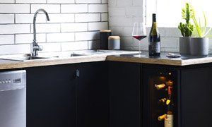 EuroCave Tete a Tete Wine Cabinet and Preserver in Kitchen