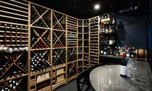 EuroCave Cellar Conditioner and Modulotheque wine racking system