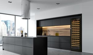 EuroCave Compact Large Integrated Wine Cabinet Fridge in Kitchen