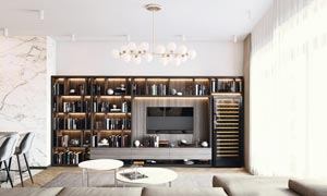 EuroCave Pure Wine Cabinet Fridge Built-in Living Space